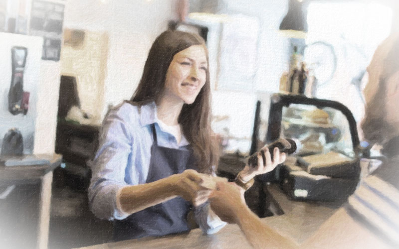 アルバイト店員の教育